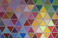 Kolorowy kreatywnie geometrical abstrakcjonistyczny kształtny wewnętrznej ściany ból Fotografia Royalty Free