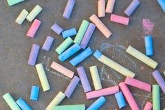 Kolorowy kredowy rysunek Obrazy Stock
