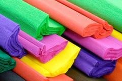 kolorowy krepdeszynowy papier Obraz Royalty Free