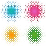 kolorowy kropek halftone set royalty ilustracja