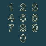 Kolorowy kropki liczby set Obrazy Royalty Free
