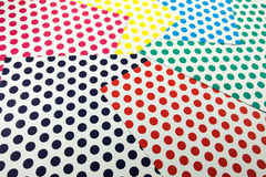 Kolorowy kropki rzemiosła papier Fotografia Stock
