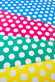 Kolorowy kropki rzemiosła papier Zdjęcia Royalty Free