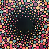 Kolorowy kropkowany abstrakcjonistyczny tło Obraz Stock