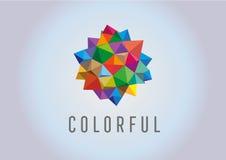 Kolorowy krystaliczny plakat również zwrócić corel ilustracji wektora Zdjęcia Stock