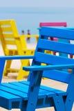 Kolorowy krzesło na plaży Zdjęcia Stock