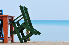 Kolorowy krzesło na plaży Zdjęcie Royalty Free