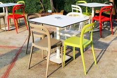 Kolorowy krzesło i ogród Obrazy Stock