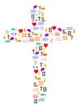 kolorowy krzyż royalty ilustracja
