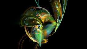 Kolorowy krzywa kwiatu abstrakta tło ilustracja wektor