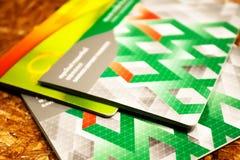 Kolorowy książkowy bank, passbook oświadczenie Fotografia Stock