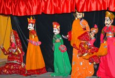 Kolorowy kukiełkowy przedstawienie Zdjęcia Royalty Free
