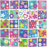 Kolorowy kwiaciasty wzór Zdjęcie Stock