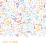Kolorowy kwiatów i rośliien horyzontalny bezszwowy ilustracja wektor