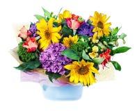 Kolorowy kwiatu bukiet odizolowywający na białym tle Obraz Stock