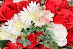 Kolorowy kwiatu bukiet, kolorowy plastikowi kwiaty Fotografia Stock
