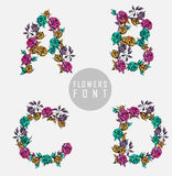kolorowy kwiatu chrzcielnicy ilustraci wektor Zdjęcie Stock
