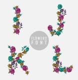 kolorowy kwiatu chrzcielnicy ilustraci wektor Obrazy Royalty Free