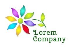 Kolorowy kwiatu loga szablon Obrazy Royalty Free