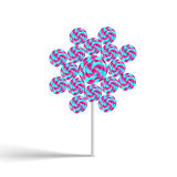 Kolorowy kwiatu swirly lollypop Obrazy Stock
