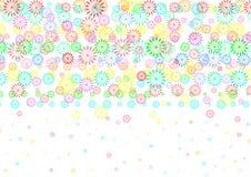 Kolorowy kwiatu wz?r w Bia?ym tle ilustracji