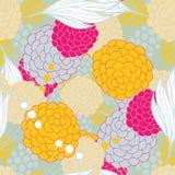 Kolorowy kwiecisty bezszwowy tło wzór Ilustracja Wektor