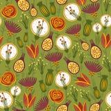 Kolorowy kwiecisty bezszwowy wzór ilustracja wektor