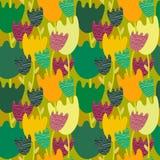 Kolorowy kwiecisty bezszwowy wzór ilustracji