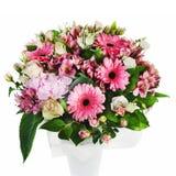 Kolorowy kwiecisty bukiet róż, leluj i orchidei przygotowania, Zdjęcie Royalty Free