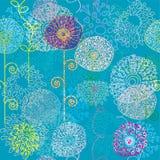 kolorowy kwiecisty deseniowy bezszwowy royalty ilustracja