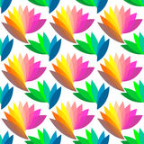 kolorowy kwiecisty deseniowy bezszwowy Obrazy Royalty Free