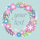 Kolorowy kwiecisty kartka z pozdrowieniami Zdjęcia Stock