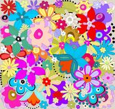 kolorowy kwiecisty wzór ilustracja wektor