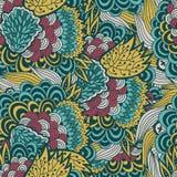 Kolorowy kwiecisty wzór, bezszwowy tło Zdjęcia Royalty Free