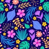 Kolorowy kwiecisty wzór ilustracji