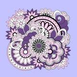 Kolorowy kwiecisty zen skład royalty ilustracja