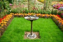 Kolorowy kwitnący ogród, kwiatów lato pełność zdjęcia stock