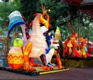 Kolorowy lampion przy Latarniowym festiwalem w Tajwan Fotografia Royalty Free