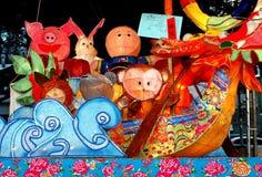 Kolorowy lampion przy Latarniowym festiwalem w Tajwan Zdjęcia Royalty Free