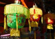 Kolorowy lampion, rynek, jesień festiwal Zdjęcie Stock