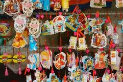 Kolorowy lampion, rynek, jesień festiwal Zdjęcia Royalty Free