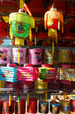 Kolorowy lampion, rynek, jesień festiwal Obraz Stock