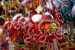 Kolorowy lampion, rynek, jesień festiwal Fotografia Stock
