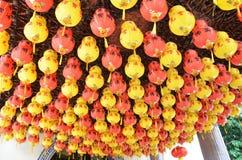 Kolorowy lampion w Chińskim Świątynnym Penang, Malezja Zdjęcia Stock