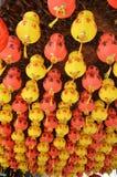 Kolorowy lampion w Chińskim Świątynnym Penang, Malezja Obraz Stock