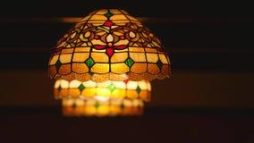 Kolorowy lampion z mozaika projektem Zdjęcia Royalty Free