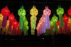 Kolorowy Lanna lampion Fotografia Royalty Free