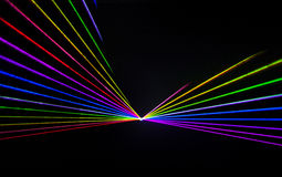 Kolorowy Laserowy skutek Zdjęcia Stock