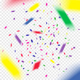 Kolorowy latanie spada elementy dekoracja świętowanie Abstrakcjonistyczny tło z spada confetti Obraz Stock