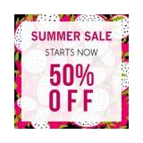 Kolorowy lato sprzedaży sztandar z pitaya ilustracja wektor